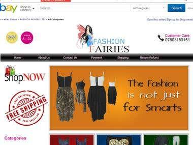 Ebay Store Page Design