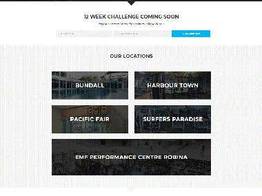 EMF Fitness Centre Website Design