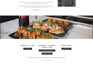 BULL & BEAR Restaurant Website Design