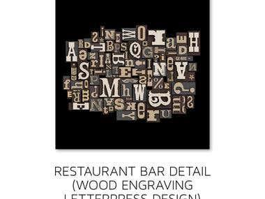 Restaurant bar detail