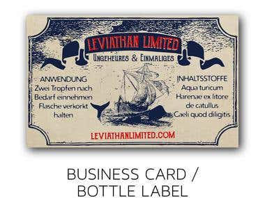 Business card and bottle label design