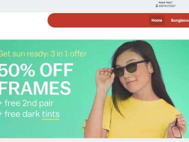 An E-Com Site for Eye-wear Brand