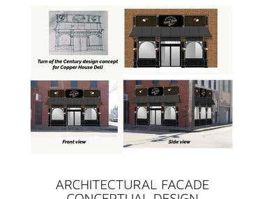 Architectural facade concept and design