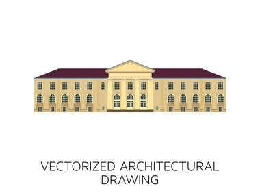 Architectural vector drawing