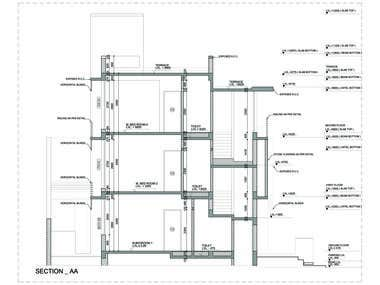 Construction drawings and building elevations