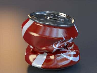 crushed can
