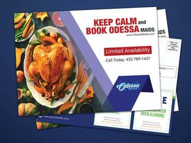 Restaurant postcard font
