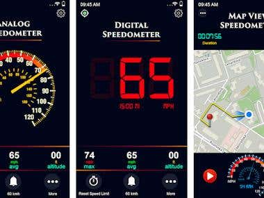 Mobile App Development (GPS Speedometer New - Digital Spe)