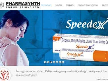 Pharmacy company portfolio website