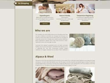 Alpaca Wool Corporate Page