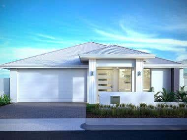 3D renderings - Exterior - Australia houses