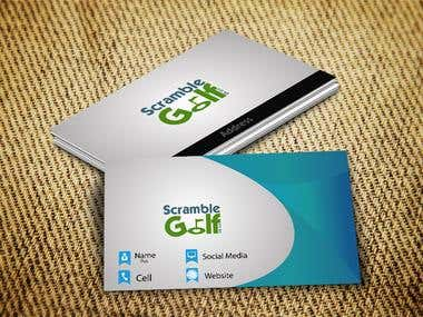 Scramble Golf Business Card
