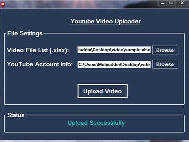 Automatic YouTube Video Uploader