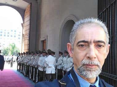 Cérémonie au palais La Moneda au Chili