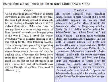 ENGLISH TO GERMAN TRANSLATION
