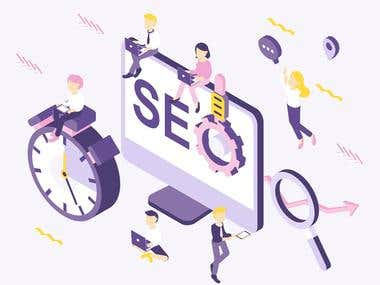 SEO Isometric Illustration