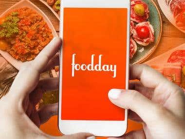 diseño de aplicación movil para comida