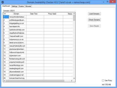 Domain Availability Checker