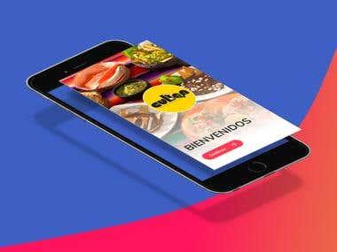 diseño de app movil para app de comida