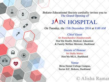 Invitation for a Hospital Inauguration