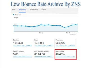 Low Bounce Rate Archive By ZNS