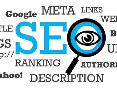 SEO (ON-page, OFF-Page), Internet Marketing, Link building.