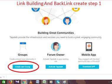 Link building and back link create