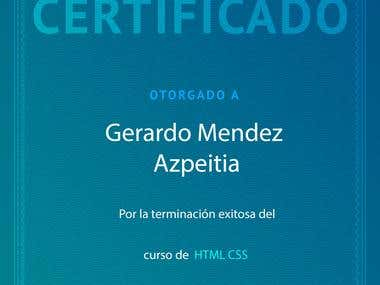 Certificado HTML y CSS