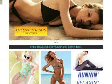 store for innovative range of swimwear and beachwear