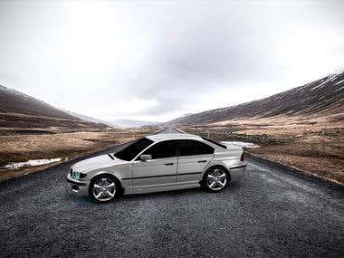 BMW E46 M3 fan Art Scene