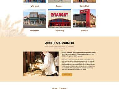 Bread Company homepage design