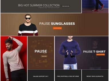 E Commerce Website | Pause store