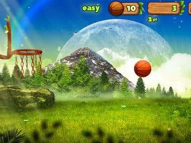 Html5 game Nature Basketball. Graphics+Programming.