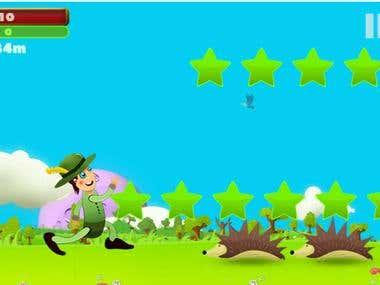 Html5 game Wildwood Run. Graphics+Programming.