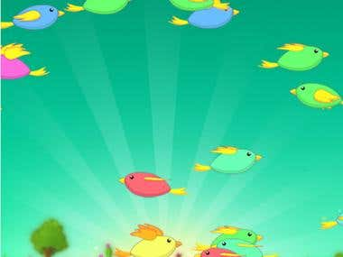 Html5 game Birdzap. Graphics+Programming