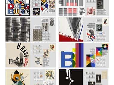Bauhaus calendar