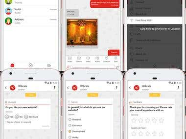 Wibrate - Free Wi-Fi Messaging Service