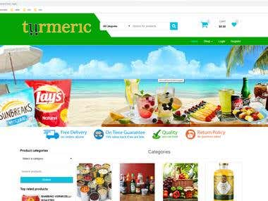 Online Grocery Woocommerce website