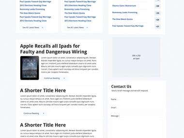 Business Site, Photoshop design