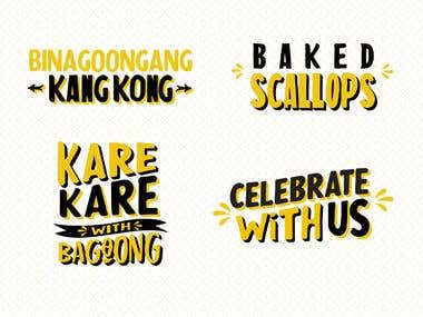 Hand Lettering for a Filipino Restaurant