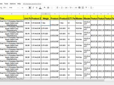 Item Listing and data scraping