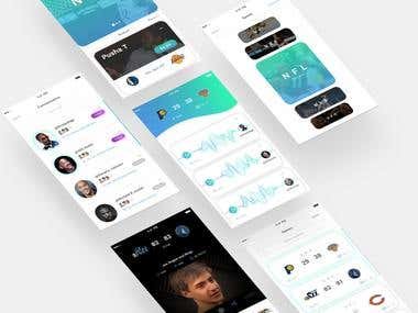 Sports App UI/UX Design