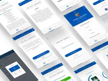 Fundation Zamura App UI/X Design