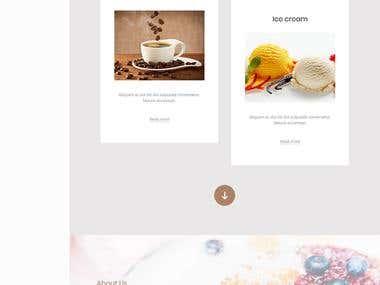 WordPress - Landing page