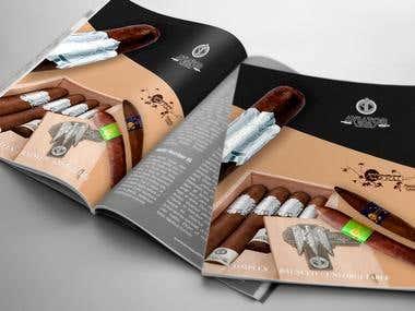 Magazine page ad design