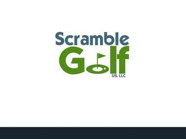 Scramble Golf Logo Design