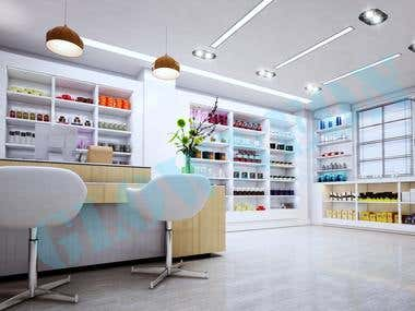 retail shop design with concept