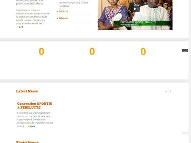 Design of the Sportis website https://sportis-benin.com/