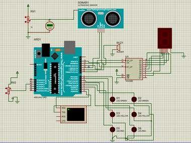 Traffic Light with Ultrasonic Sensor