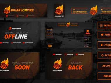 Twitch Branding for BriarsOnFire